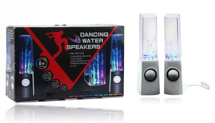 LED Light Dancing Water Speaker Mini Portable Loud Audio Speaker