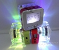 NIZHI TT-028 LED Crystal Portable Audio Active Light Speaker
