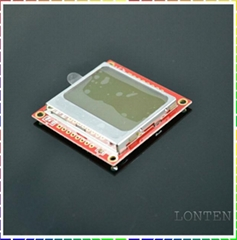 Nokia 5110 LCD Module with white backlight RED PCB for arduino