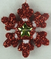 Snowflake Christmas tree ornament