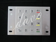 IP65 rated kiosk metal numeric keypad with 16 keys  size 91.5*87.5(mm)