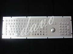 105 keys IP65 rated stainless steel keyboard with trackball