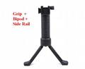 Tactical Gear Military Steel Inserted Leg Grip+Bipod+Side Rail Rifle ForeGrip  1