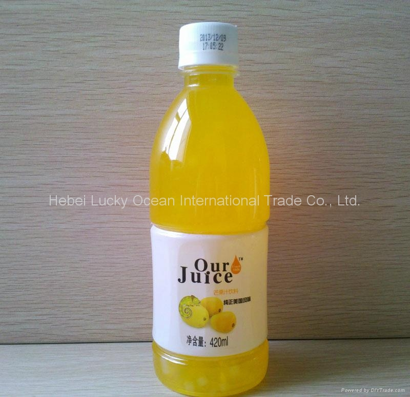 420ml PET package Aloe vera and fruit mixed juice drink 1