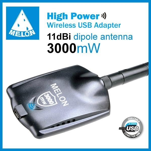 Melon N3000,Ralink3070 chipset,802.11N wireless adapter,150Mbps,11dBi antenna 2
