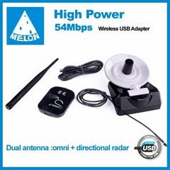 Melon 960000G,realtek8187L chipset,802.11b/g wifi adapter,54Mbps transmission