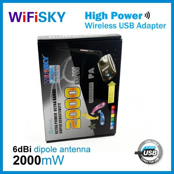 wifisky2000,6dbi wireless adapter,8187L chipset,54Mbps transmission rate 2