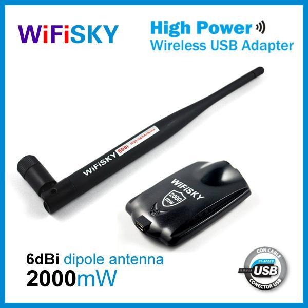 Wifisky2000 realtek 8187L chipset 802.11b/g wlan adapter 2W+6dBi  1