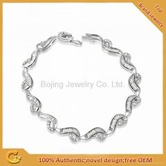 热销款纯银蛇形手链