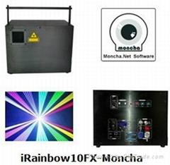 RGB 10W Moncha mainboard full color animation laser show stage DJ lighting