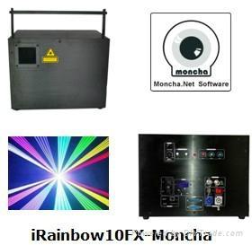 RGB 10W Moncha mainboard full color animation laser show stage DJ lighting 1