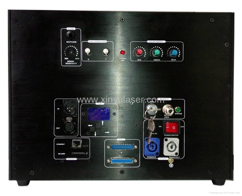 RGB 10W Moncha mainboard full color animation laser show stage DJ lighting 3