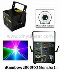RGB 2W Moncha mainboard full color animation laser show stage DJ lighting