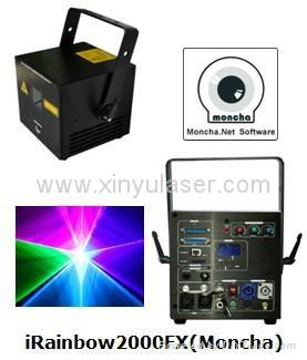 RGB 2W Moncha mainboard full color animation laser show stage DJ lighting 1