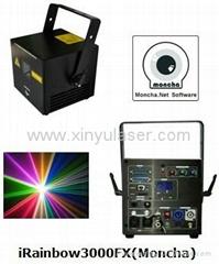 RGB 3W Moncha mainboard full color animation laser show stage DJ lighting
