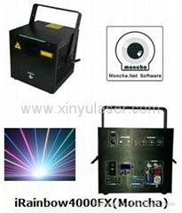 RGB 4W Moncha mainboard full color animation laser show stage DJ lighting