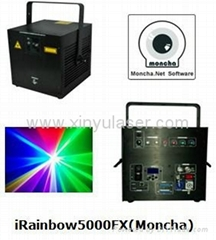 RGB 5W Moncha mainboard full color animation laser show stage DJ lighting