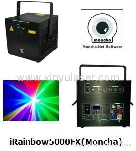 RGB 5W Moncha mainboard full color animation laser show stage DJ lighting 1
