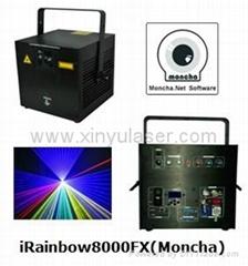 RGB 8W Moncha mainboard full color animation laser show stage DJ lighting