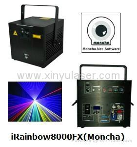 RGB 8W Moncha mainboard full color animation laser show stage DJ lighting 1