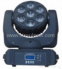 7PCS*10W RGBW Cree LED Moving Head Beam Light