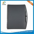PP cover spiral notebook with ball-pen