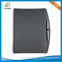 PP cover spiral notebook with ball-pen 1
