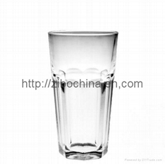 Machine press glass drinking cup
