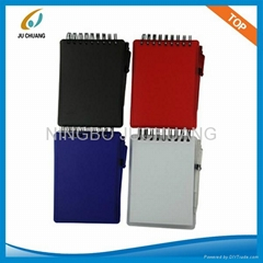 81K PLASTIC COVER MEMO PAD WITH PEN
