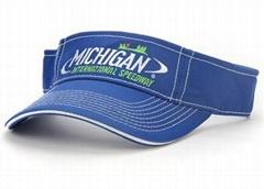 Embroidery Cotton sun visor golf cap