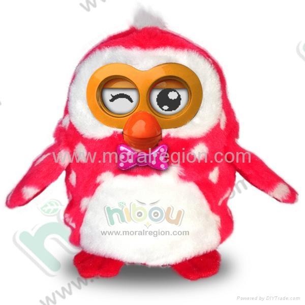 2014 new hot Hibou plush talking toy 5
