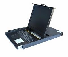 捷爾源KVM液晶套件17寸8口切換器