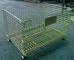 Wire Mesh Container (white and colored zinc-plating)