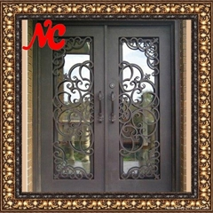 Exterior iron door with glass