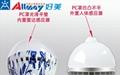 雷達感應光控青花瓷外觀LED球泡燈  3
