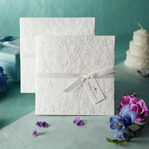 2014 Embossed Wedding Invitations 1