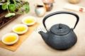 Antique enamel cast iron tea kettle/teapot 1