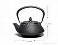 Antique enamel cast iron tea kettle/teapot 2