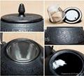 Antique enamel cast iron tea kettle/teapot 4