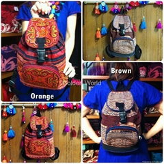Backpack Hmong vintage embroidered Handmade by Hmong
