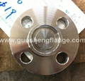 Stainless steel blind flange with tongue