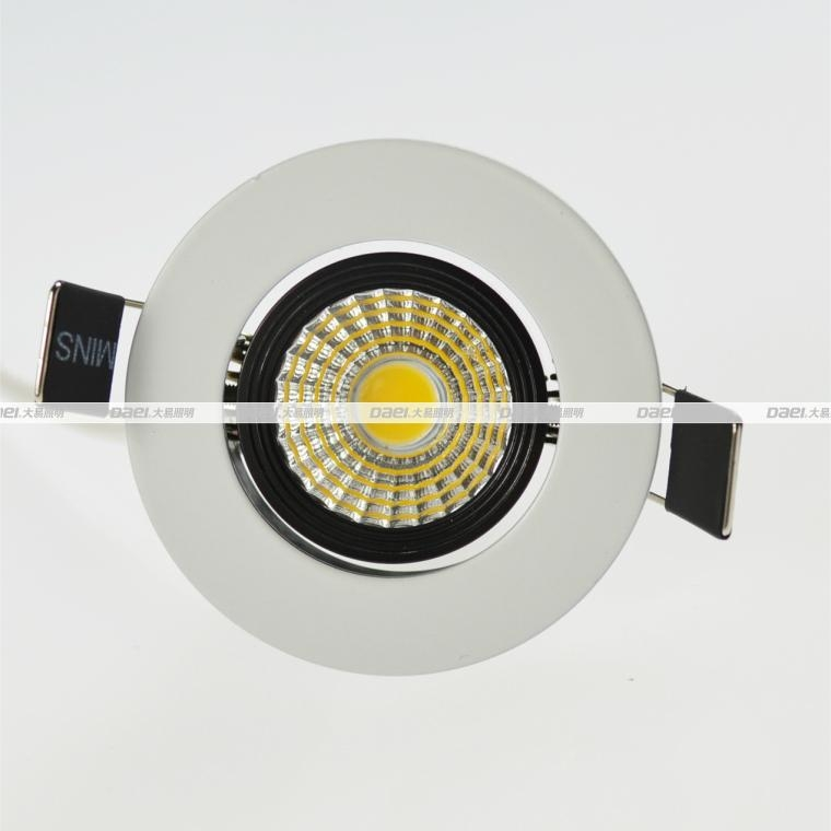 Daei Brand 3w LED Downlight Recessed indoor COB Chip light for free shipping  2