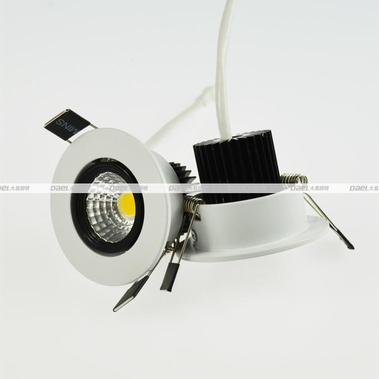 Daei Brand 3w LED Downlight Recessed indoor COB Chip light for free shipping  4