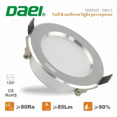Daei brand high bright LED downlight passed CE and ROHS