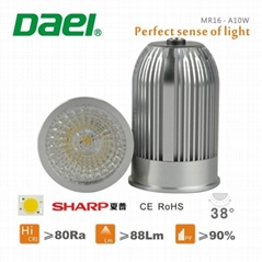 Daei brand newest 2014 COB MR16 LED bulb passed CE and ROHS