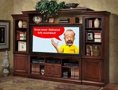 艾可米家居進口實木電視櫃組合