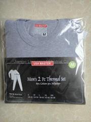 men interlock thermal pajama set in brand with long top and pants