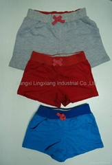 kids solid color shorts for sports and underwear