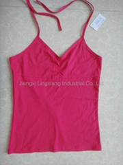 ladies sexy lingerie camisole with plain design for underwear