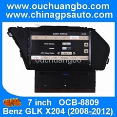 dvd player car audio gps for Mercedes Benz GLK X204